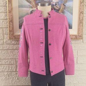Bloomingdales 3pc Embellished Bomber Jacket Set